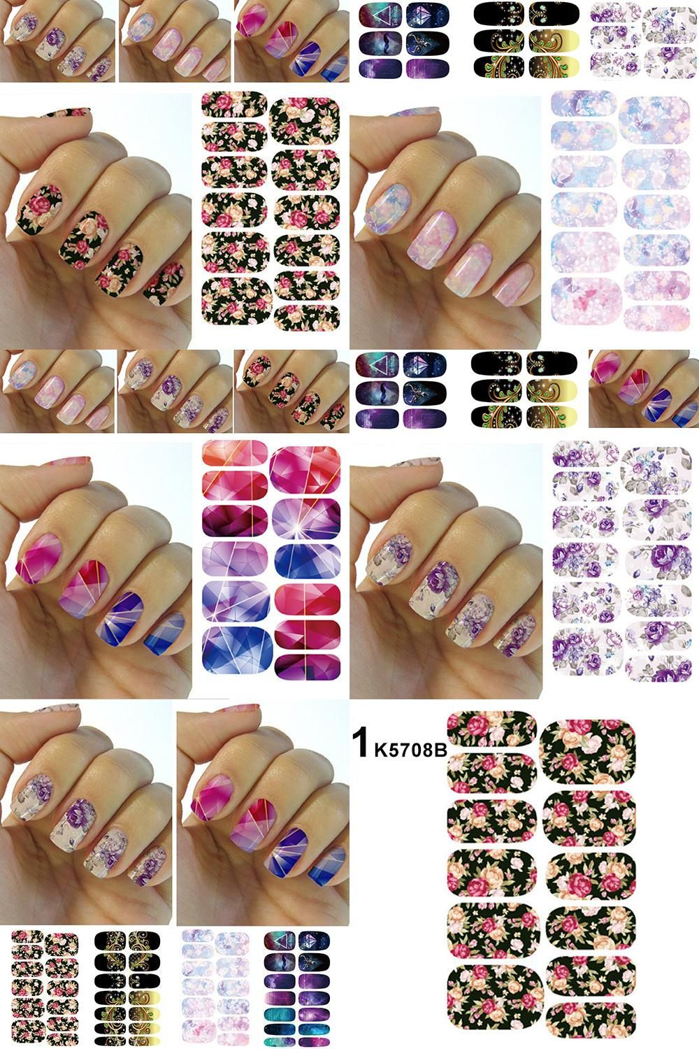 Visit to Buy] Cosmetics Water Transfer Foil Nails Art Sticker ...