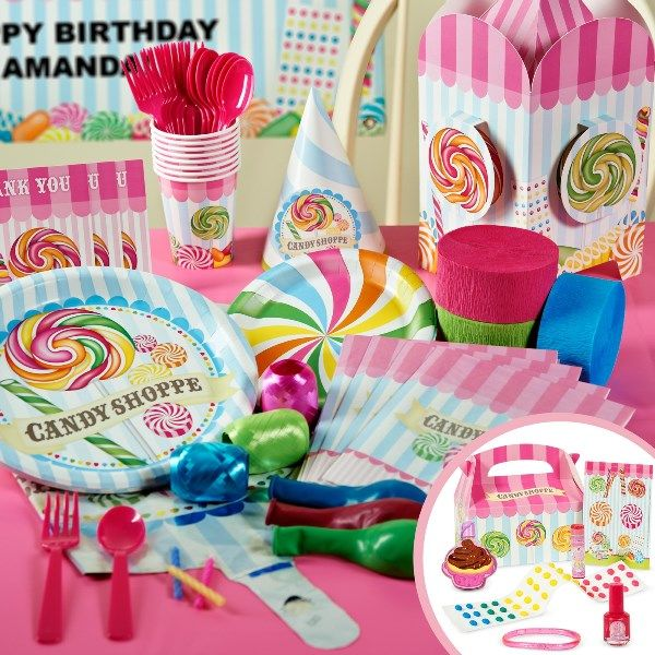 18th Birthday Birthday Party Favor Gumball Candy: Sweet Shoppe Goodies! {It's A Candy Party