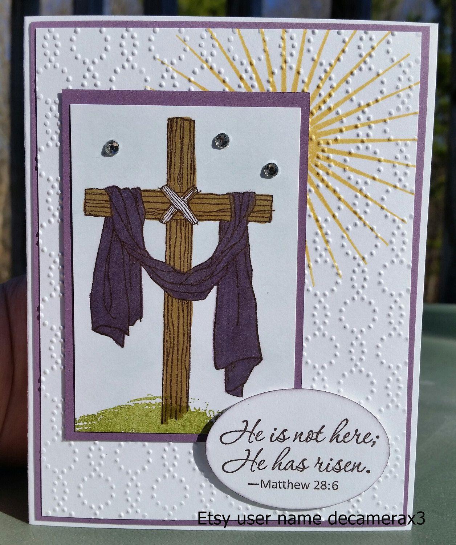 Handmade easter card kit stampin up easter message
