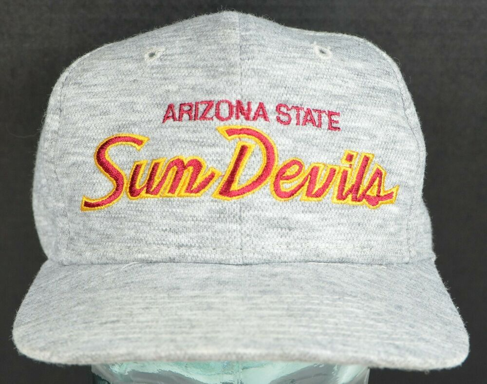 e43c129b Arizona State University Sun Devils Snapback Hat Vintage Gray Cap ASU #Cap  #Everyday