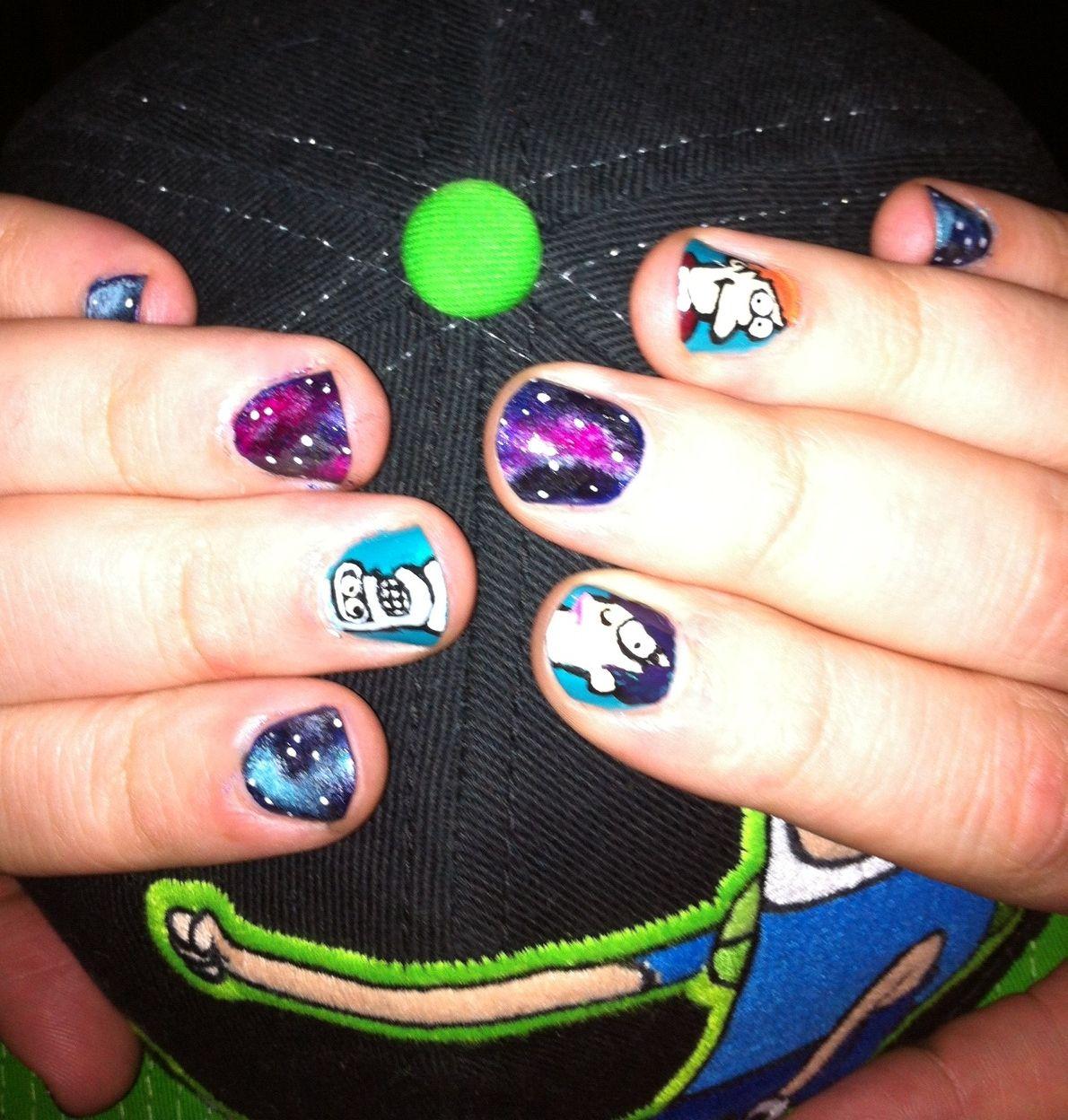 Futurama Galaxy Nails Icandomynailstumblr