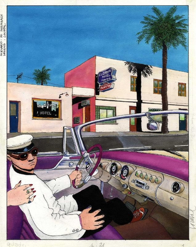 Jacques de Loustal - New York - Miami - Page 21 Comic Art