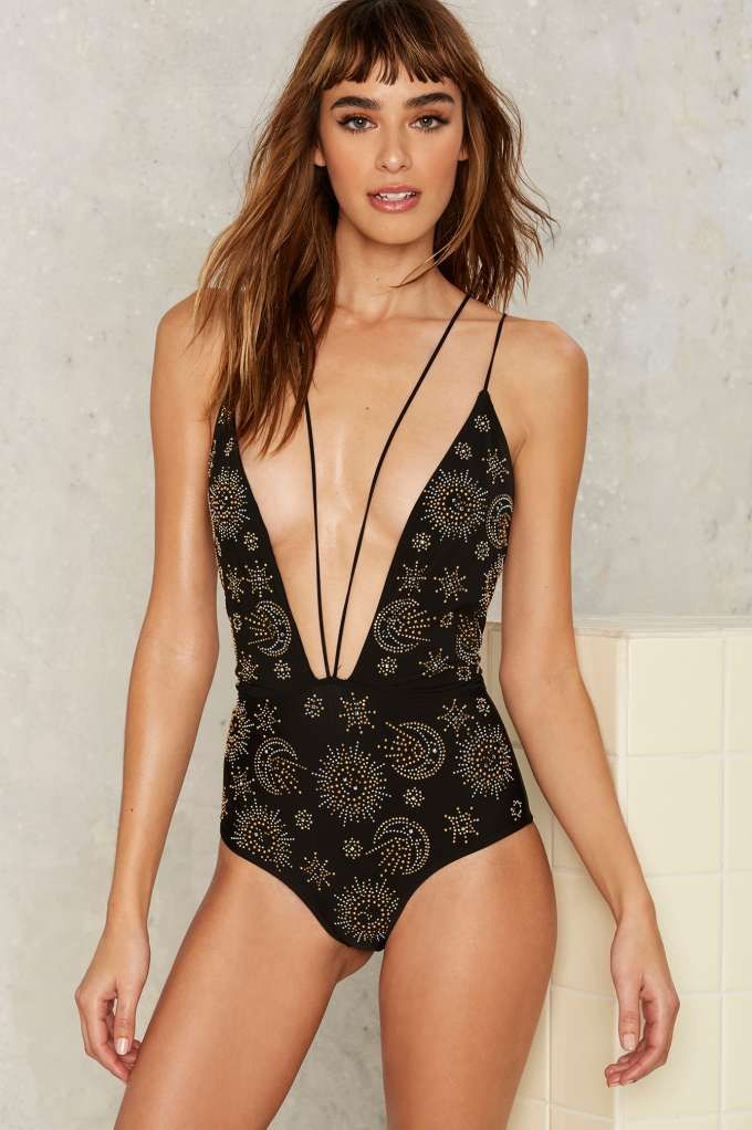 b34e86d3eec Beach Riot Eclipse Embellished Swimsuit | Shop Clothes at Nasty Gal ...
