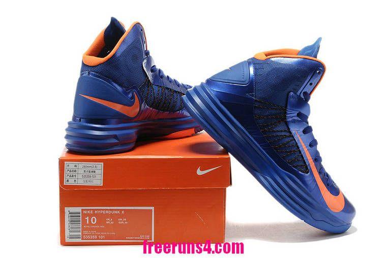 Cheap Nike Lunar Hyperdunk 2012 Prime Blue Orange 535359 102 Basketball  Shoes Sale 2013 Outlet