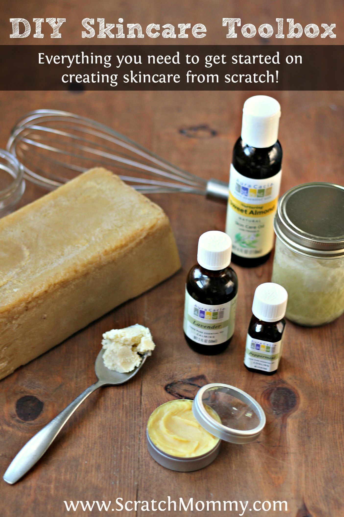 DIY Skincare Toolbox- Ingredients needed to start making your own skincare products | Scratch Mommy