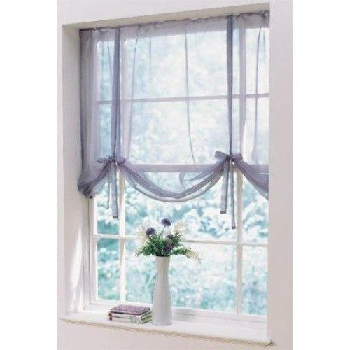 Curtain Ideas With Voile: Bedrooms - Voile Tied Blinds