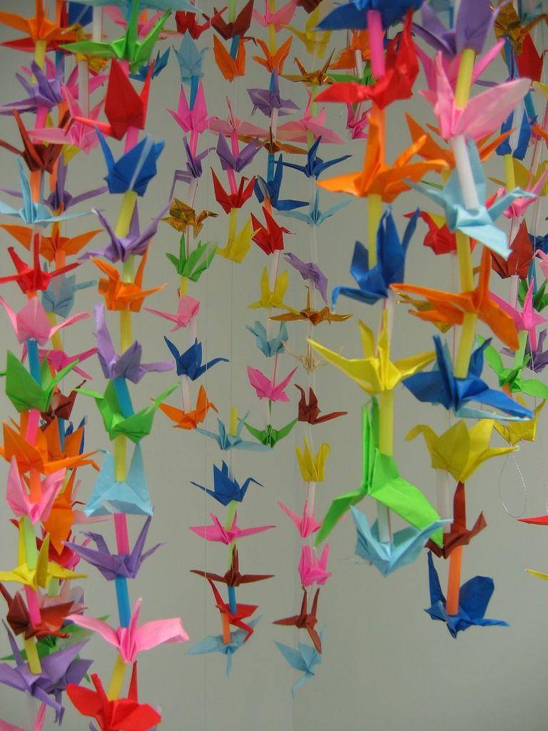 Decoración Con Pájaros En Origami Grullas Origami