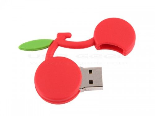 Cherry Custom Shaped USB Flash Drive
