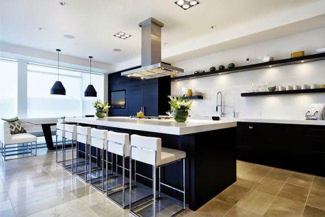 Resultado de imagen para cocina grande moderna casa Pinterest - cocinas grandes de lujo