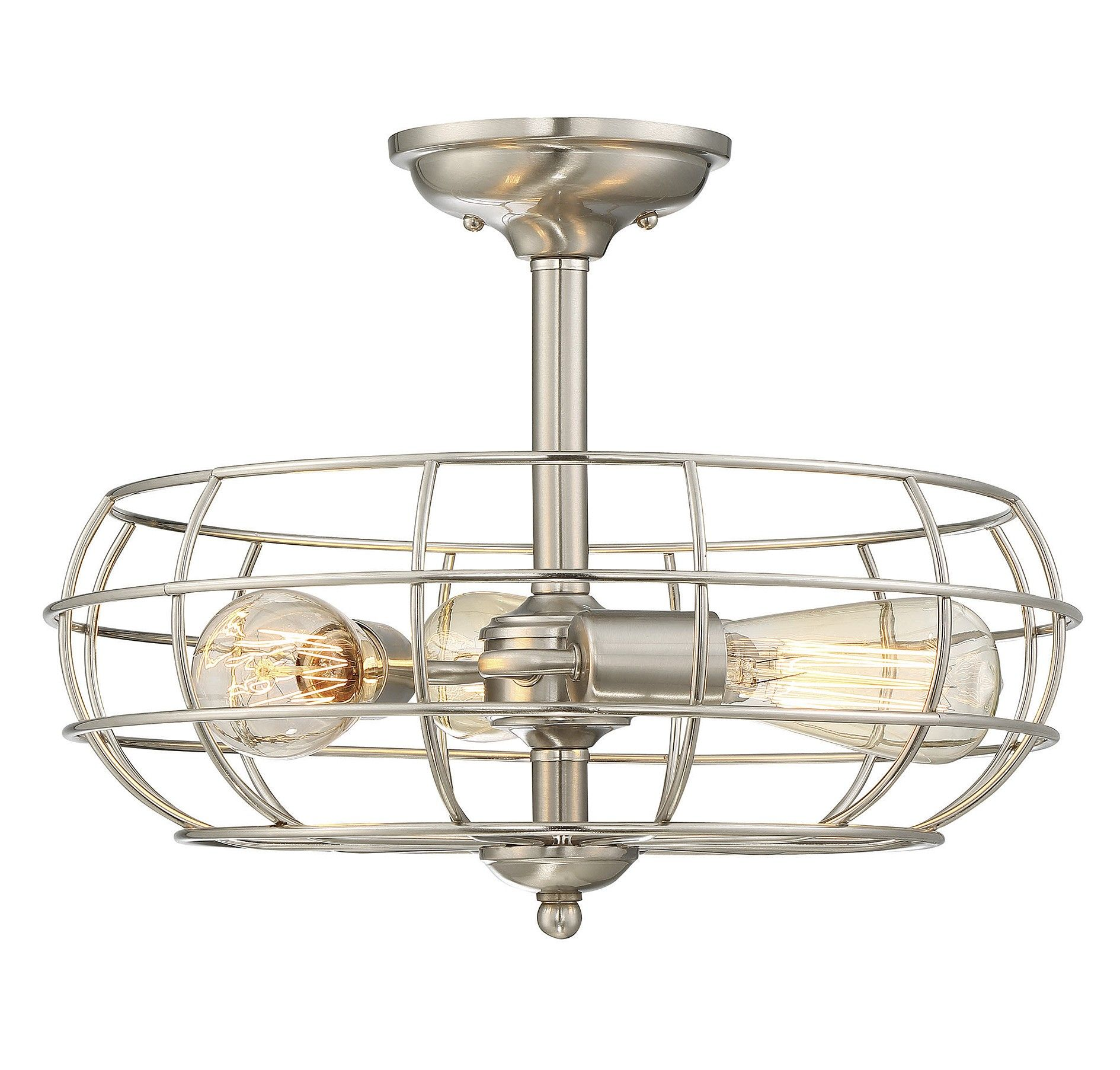 This Savoy House Scout 3 Light Ceiling Semi Flush Mount Brings A