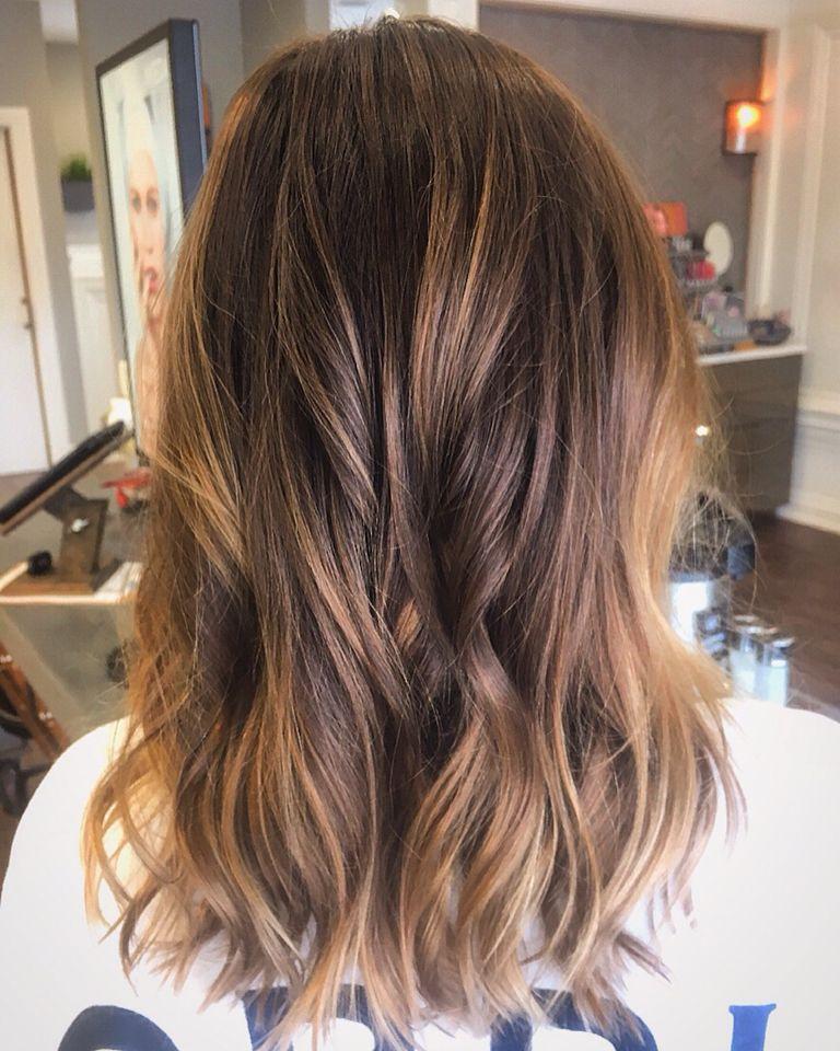 Chocolate Caramel Balayage Highlights Hair Pinte