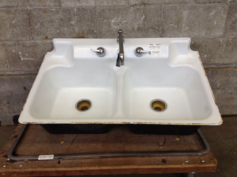 Vintage 1940s Crane Cast Iron Sink Cast iron sink, Sink