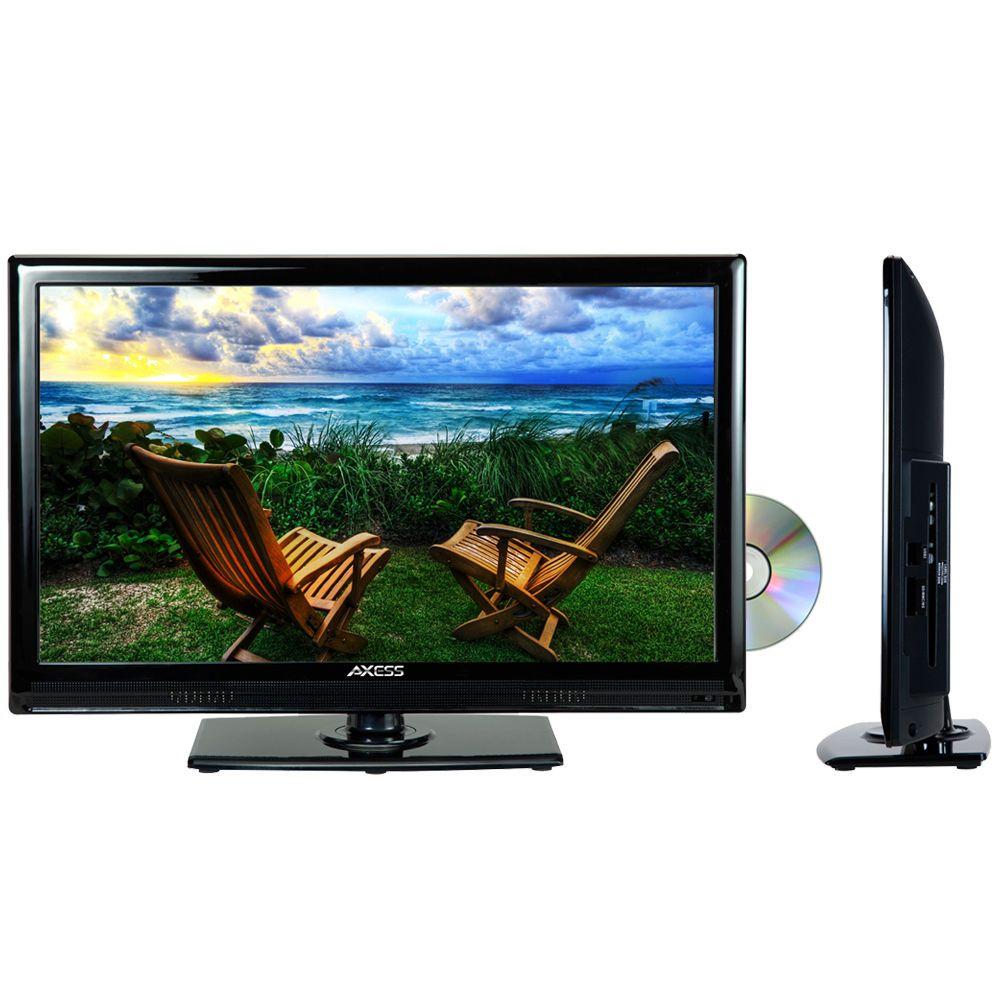 New 19 Led Lcd Digital Tuner Hd Tv Television Dvd Player Hdmi Ac Dc 12v Cord Rv Axess Led Tv Digital Tuner Hdmi