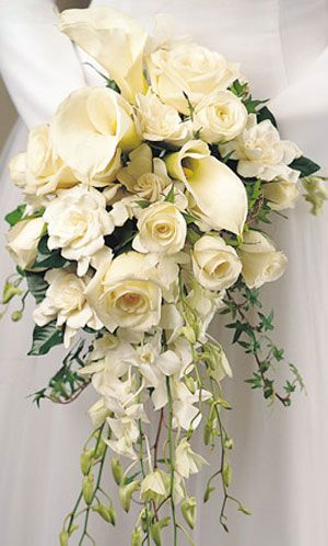 Call Lilies Roses And Singapore Orchids Wedding Flowers Bridal Bouquet