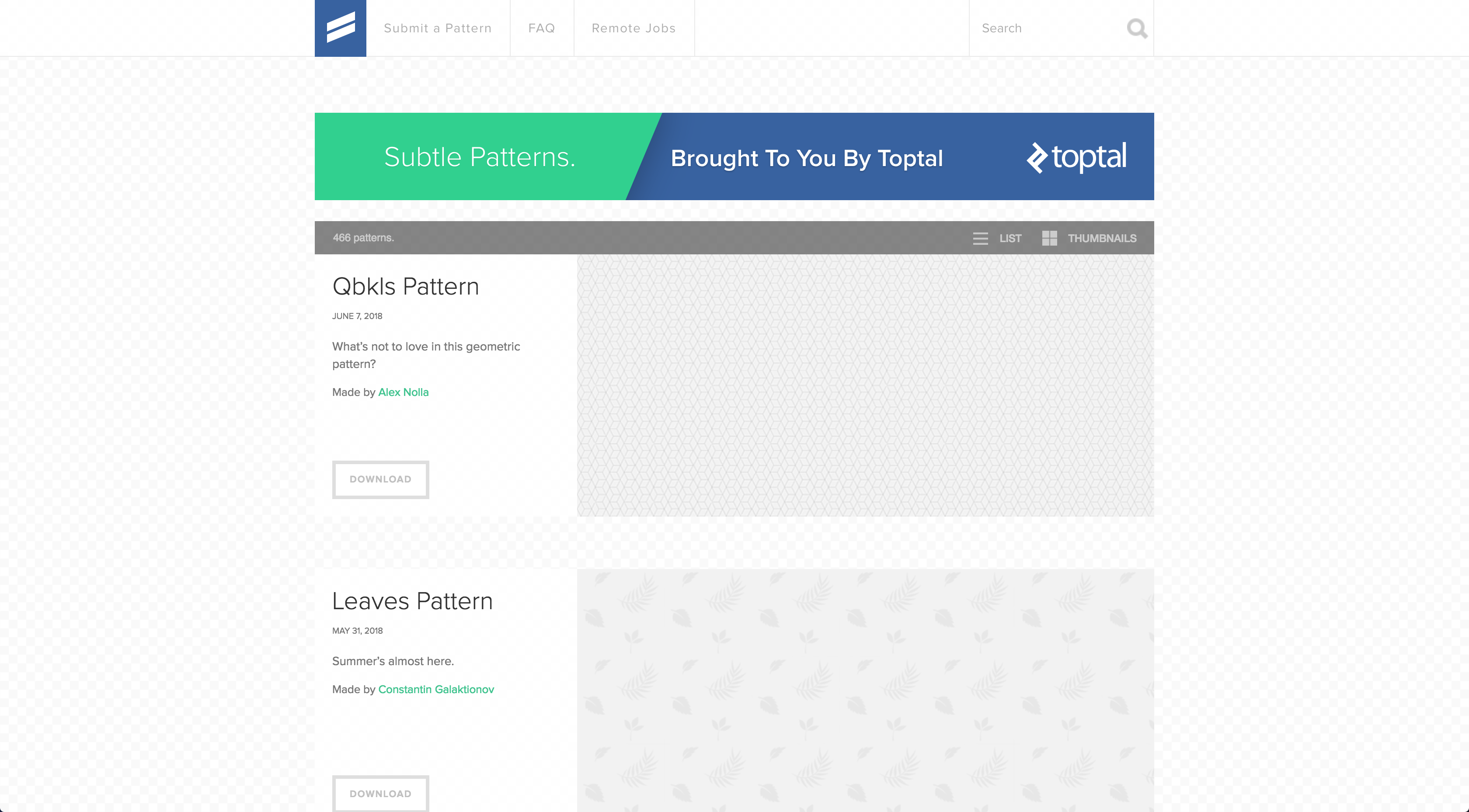 Toptal Patterns With Images Pattern Leaf Pattern Free Textures