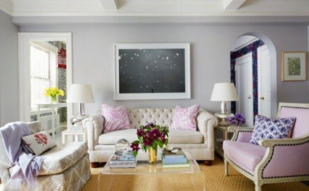 Entzuckend Schöne Wandfarben Ideen Wohnzimmer Wandfarbe Lila Grau