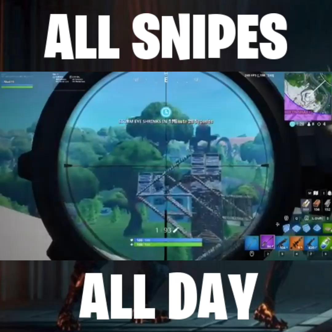 Fortnite Snipes Video Epic Games Fortnite Funny Gaming Memes Stranger Things Quote