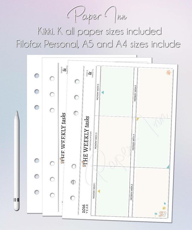 kikki k and filofax refills for personal planners! at paper inn etsy ...