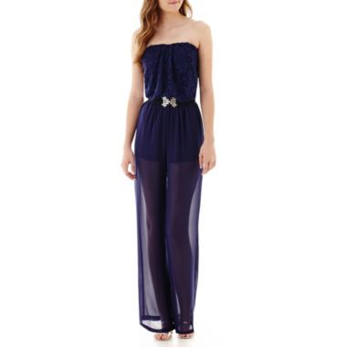 41769f92e44d City Triangles® Sleeveless Lace and Chiffon Jumpsuit found at  JCPenney I  NEED THIS