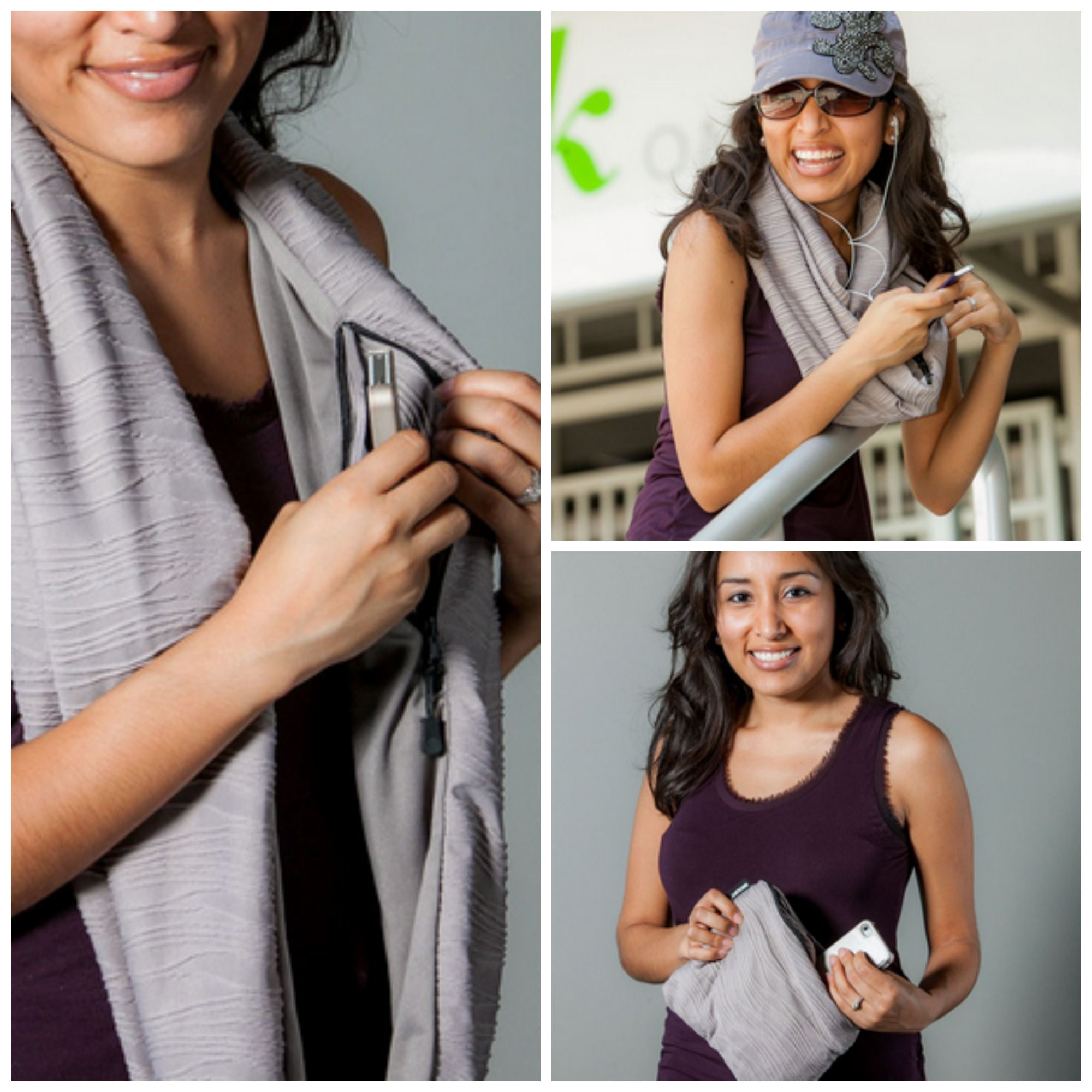 SholdIT Travel Scarf that turns into a Clutch >>> OMG I WANT!!!! This is an amazing idea - a scarf with a secret pocket that doubles as a clutch!