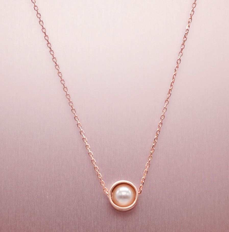 Sterling Silver Outline Circle Mother Of Pearl Necklace ...