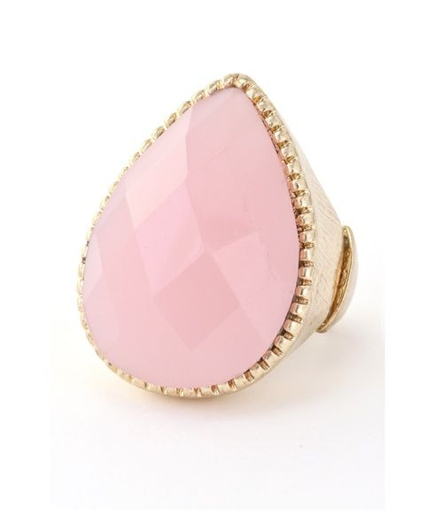 Pink Teardrop Ring | The Northern Sea