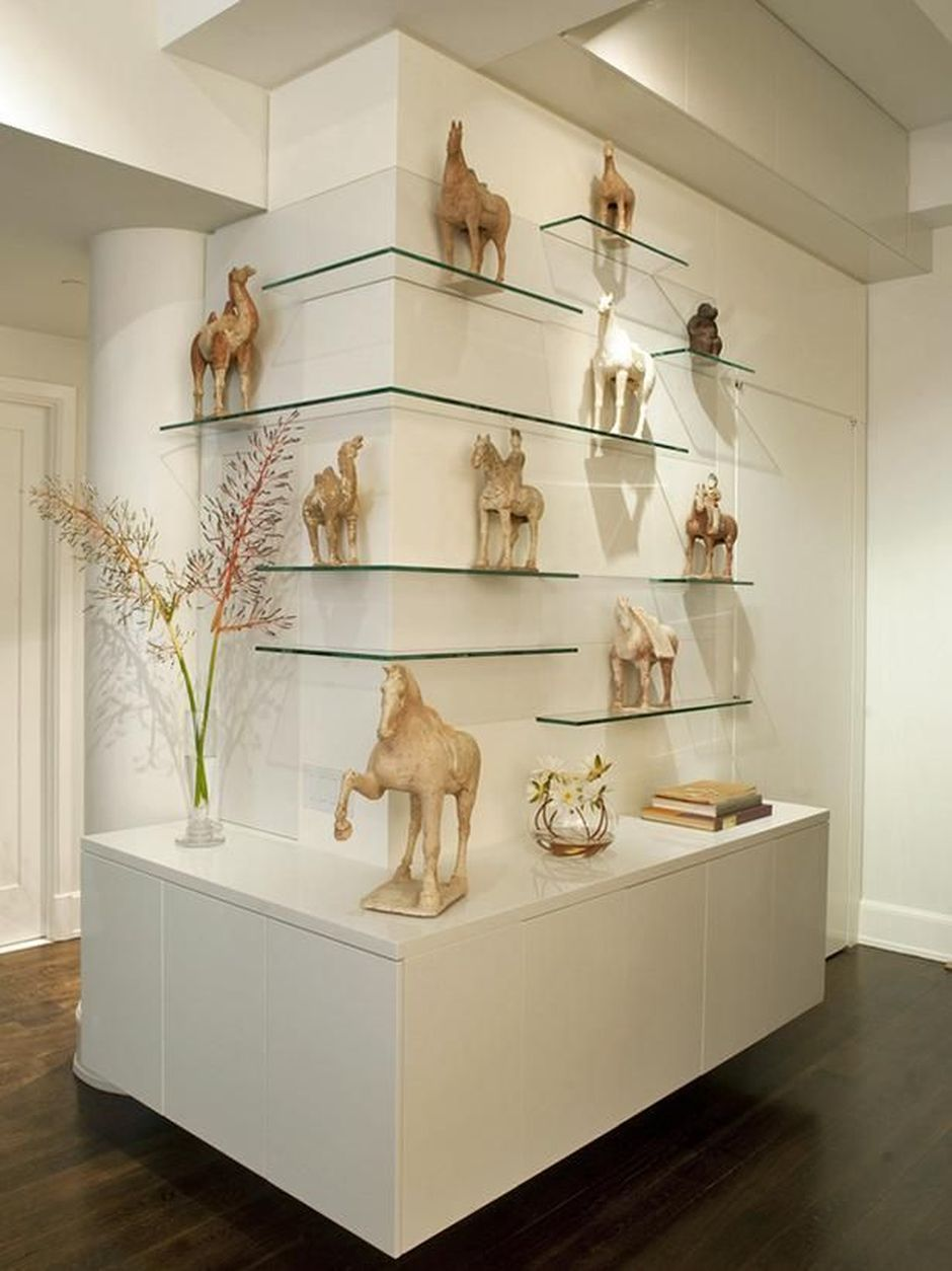 50 Attractive Corner Wall Shelves Design Ideas For Living Room