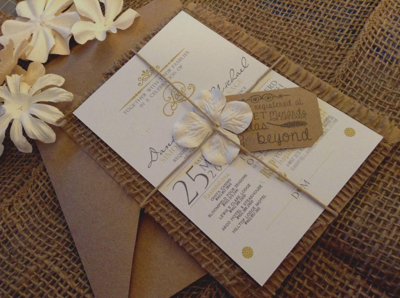 20 Wedding Invitations Simple Diy Cafecanon Info Western Wedding Invitations Cheap Wedding Invitations Burlap Wedding Invitations