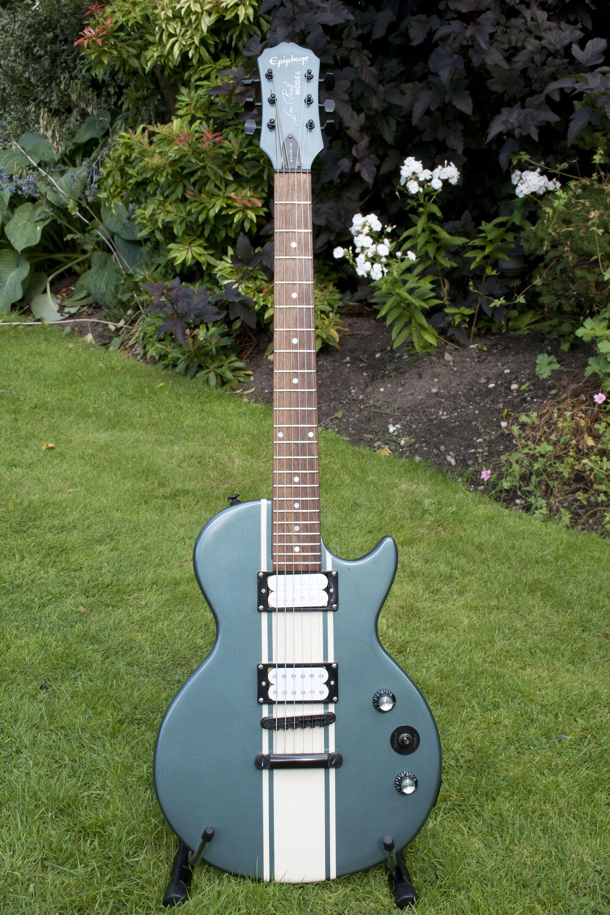 dlp epiphone les paul custom paint job electric guitar in 2019 guitar painting guitar. Black Bedroom Furniture Sets. Home Design Ideas