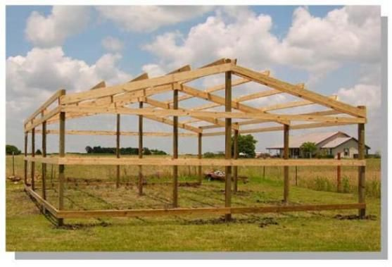 How to build a pole barn secrets and shortcuts sheds for Pole frame house plans