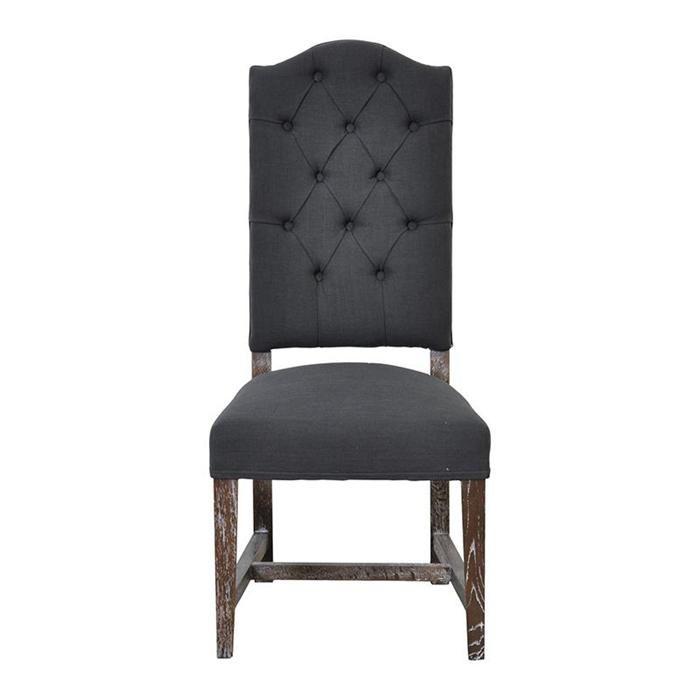 Ava Side Chair In Granite