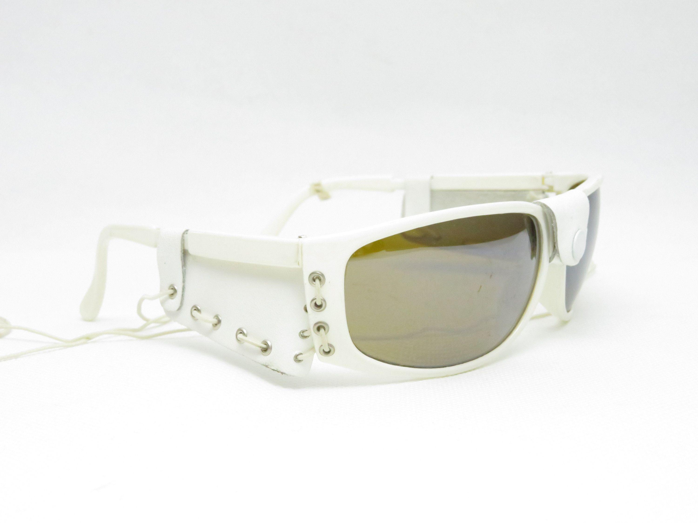 Einzigartige Sonnenbrille In Weiss Aus Den 1980er Jahren Vintage