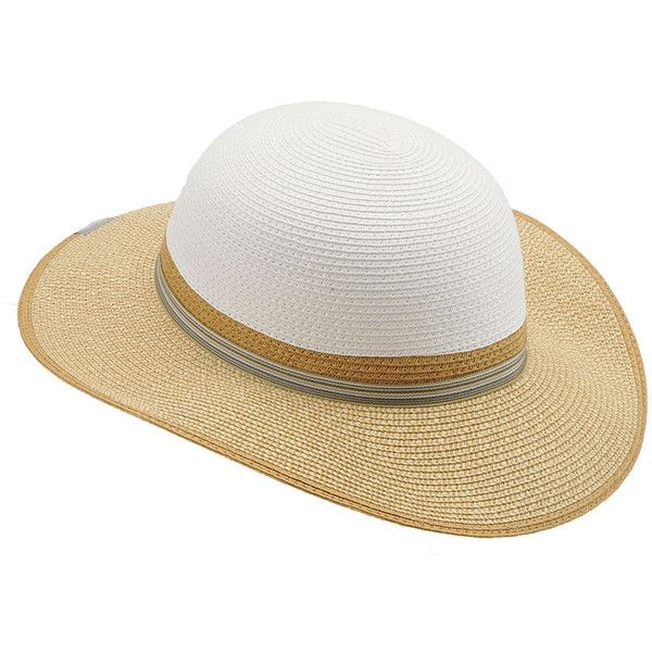 Columbia Women S Spring Drifter Straw Hat White Hats L Xl 130 Myr Liked On Polyvore Featuring Accessories H Wide Brim Straw Hat Columbia Hat Wide Brim Hat