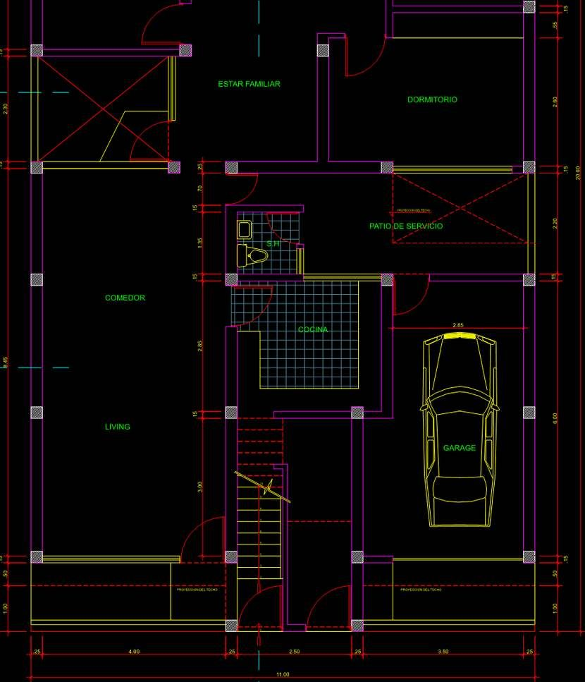 Planos de casa en autocad listos para usar plano - Cad casa gratis ...