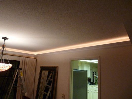 Crown moulding with rope lights barbs truck stuff pinterest crown moulding with rope lights mozeypictures Images