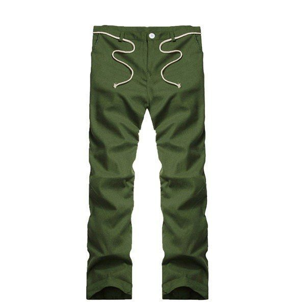 fa3cf75929c Men s Cotton Linen String Sweatpants Solid Color Comfortable Loose Leisure  Wear Breathable Pants