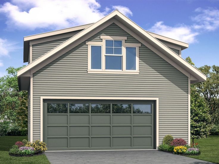 051G0108 2Car Garage Plan with Storage and Rec Room in