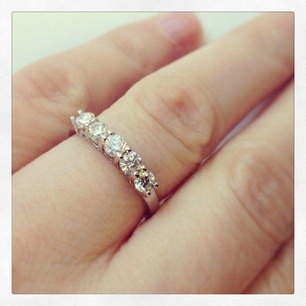 5 Stone Diamond Ring As A Wedding Band