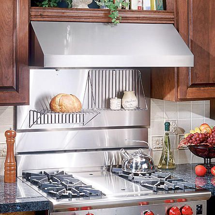 Broan Broan Rmp3004 30 In Rangemaster Stainless Steel Backsplash With Folding Shelf Stainless Backsplash Trendy Kitchen Backsplash Laminate Kitchen Cabinets