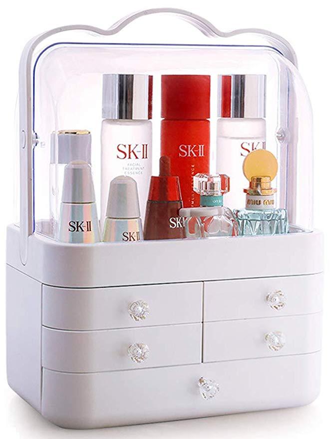 Sooyee Makeup Organizer, Modern Cosmetic Storage Holder