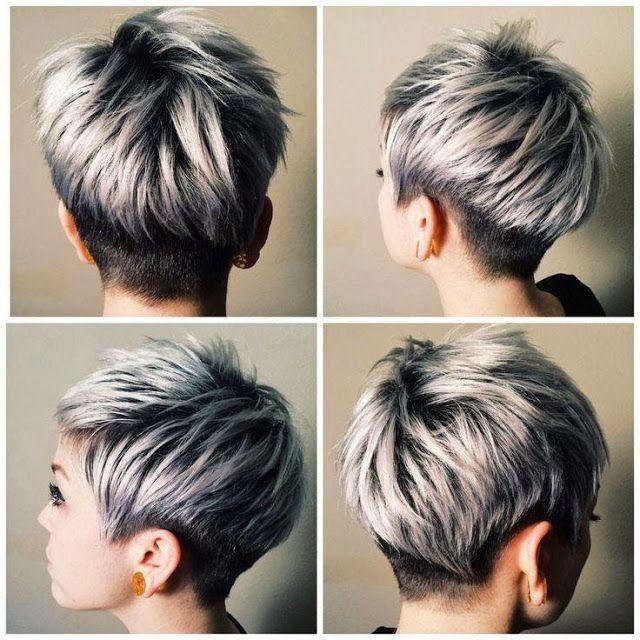 smarte frisurer med gråt hår