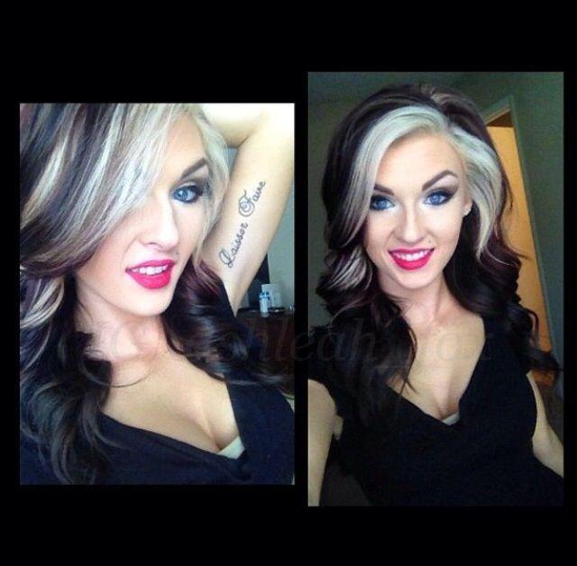Hair Color Idea With A Medium Length Haircut Hair Make