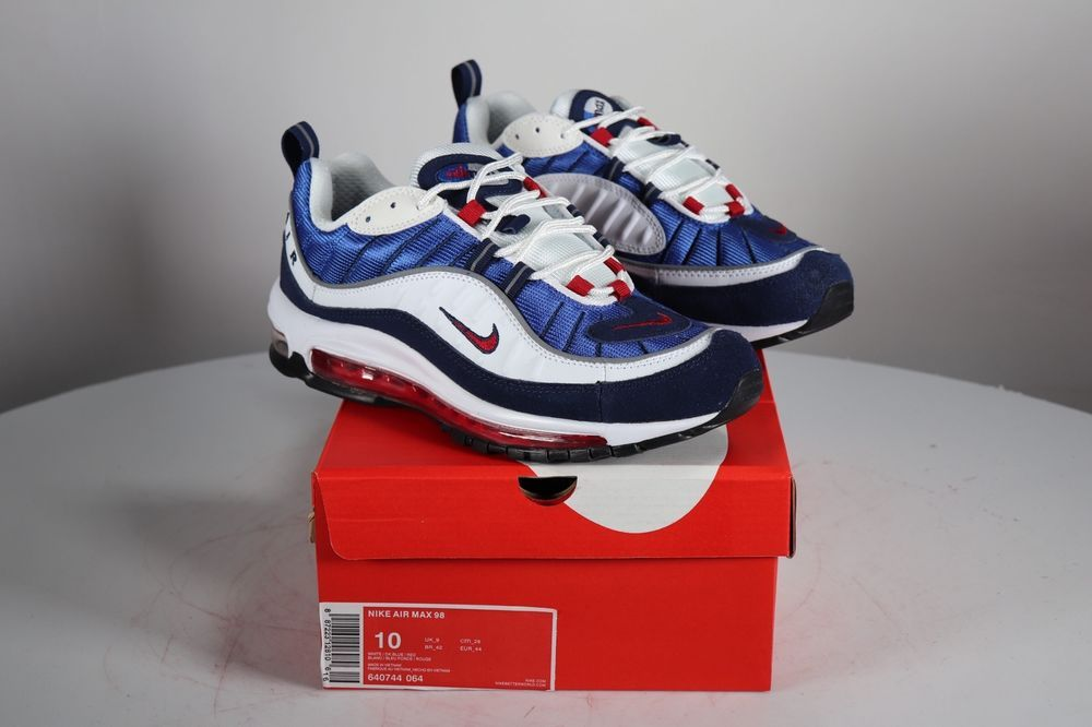 Nike Air Max 98 Gundam Red   White   Blue size 10 shoes 640744 064 sneakers 9962d843f96c