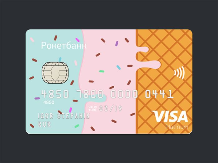 40+ Creative and Beautiful Credit Card Designs | Credit card ...