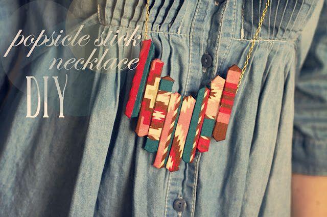 popsicle stick necklace diy