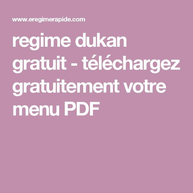regime proteine menu type dukan
