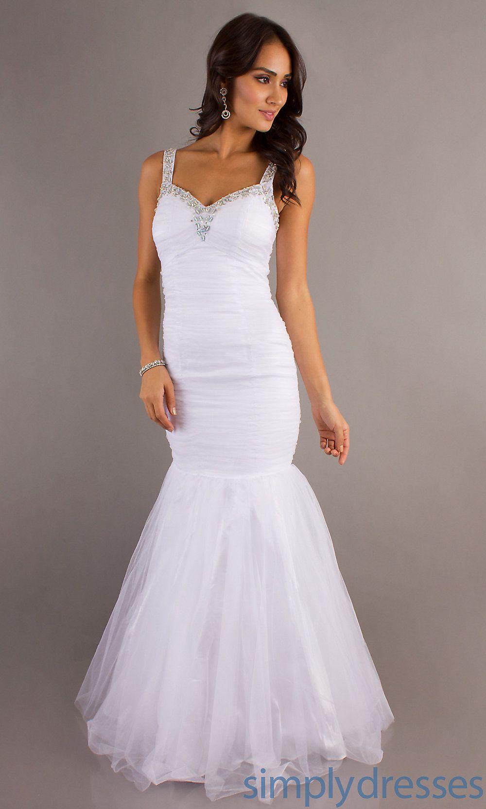 Long mermaid dresses white mermaid prom dresses simply dresses