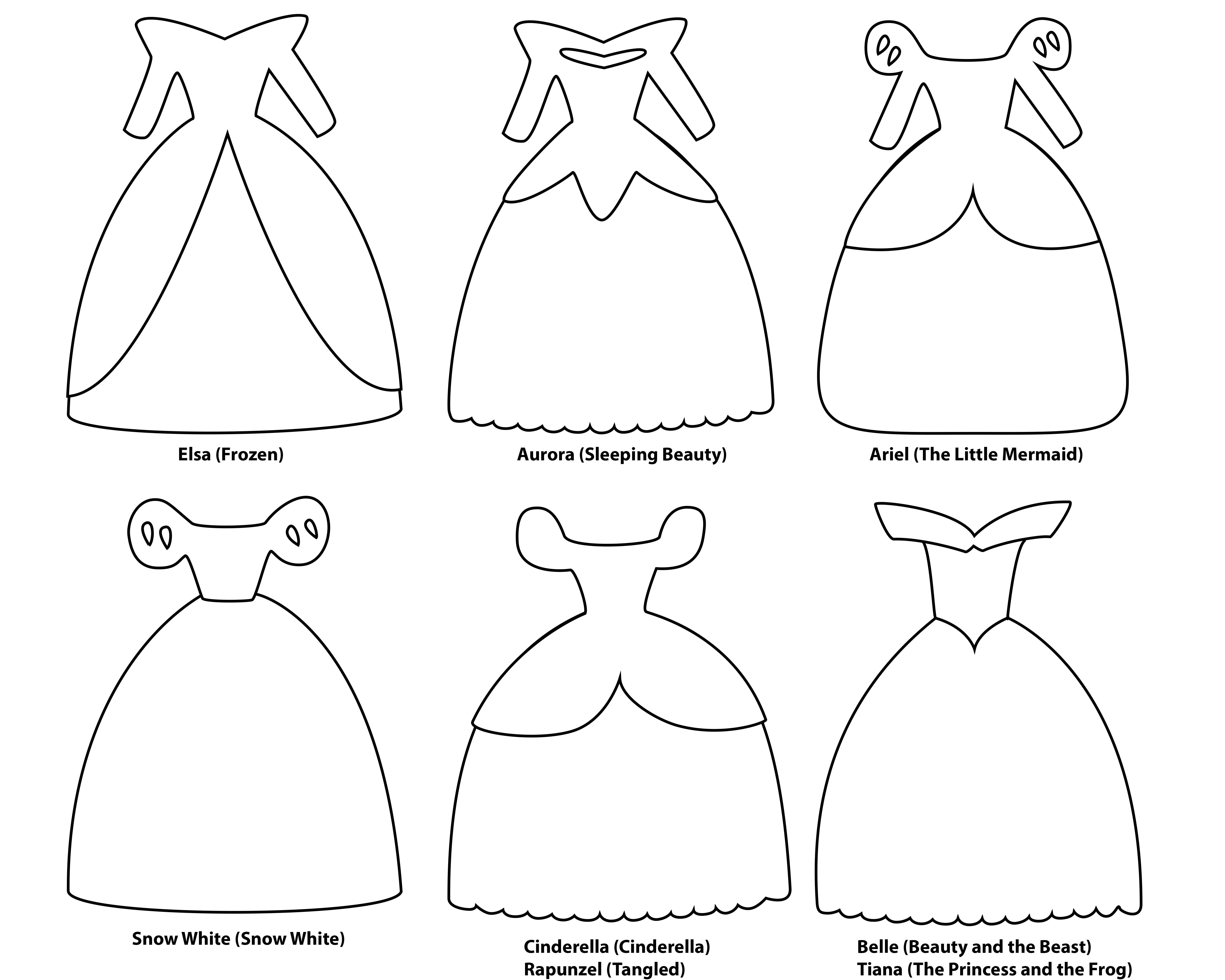 Disney Princess Dress Paper Templates Hot Hands Bakery