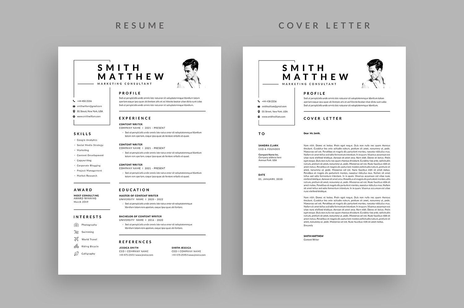Resume Cv Letterhead Design Cover Letter For Resume Resume Cv