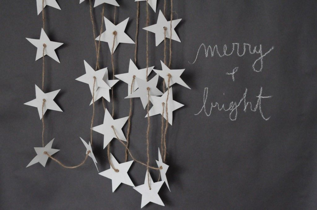 awesome star garland idea from BRIKA